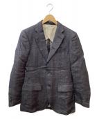 N4(エヌフォー)の古着「リネン/コットン3Bジャケット」 インディゴ