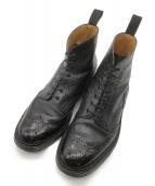 Tricker's(トリッカーズ)の古着「ウイングチップカントリーブーツ」|ブラック