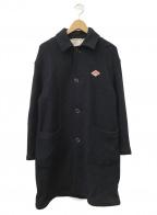 DANTON(ダントン)の古着「ウールモッサステンカラーコート」|ネイビー