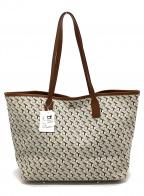 TOPKAPI(トプカピ)の古着「PVCレザートートバッグ」|ホワイト×ブラウン