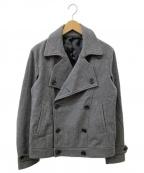 SHIPS JET BLUE(シップスジェットブルー)の古着「メルトンショートPコート」|グレー