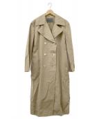 ()の古着「製品染めオーバーコート」|ベージュ