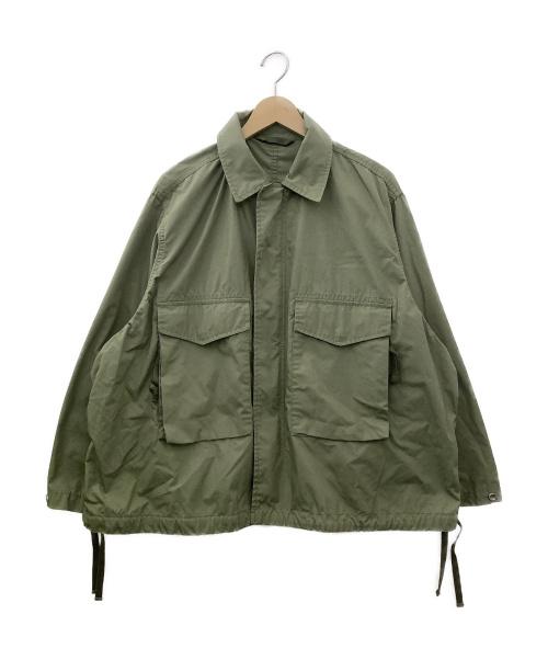 BEAMS(ビームス)BEAMS (ビームス) ルーズミリタリーブルゾン グリーン サイズ:Sサイズの古着・服飾アイテム