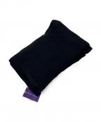 RALPH LAUREN PurpleLabel(ラルフローレンパープルレーベル)の古着「ウールマフラー」|ブラック