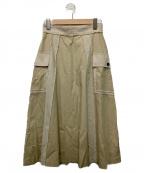 RAY BEAMS(レイ ビームス)の古着「バイカラーラインスカート」|ベージュ