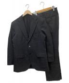 ()の古着「ストライプ/ウィンドウペーンセットアップスーツ」|グレー