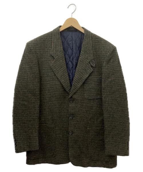 L.L.Bean(エルエルビーン)L.L.Bean (エルエルビーン) 90s ツイードテーラードジャケット ブラウン×グリーン サイズ:Mサイズ チェック柄の古着・服飾アイテム