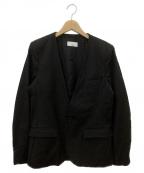 Luis(ルイス)の古着「ノーカラージャケット」|ブラック