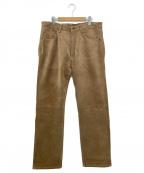 POLO JEANS CO.(ポロジーンズカンパニー)の古着「スウェードパンツ」|ブラウン