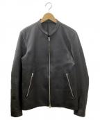 LIDnM(リドム)の古着「シングルライダースジャケット」|ブラック