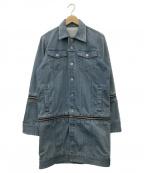 NO ID.(ノーアイディー)の古着「ストレッチデニムマルチWAYジャケット」|ブルー