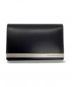 ck Calvin Klein(シーケーカルバンクライン)の古着「カードケース」|ブラック×シルバー