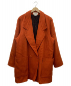 Cassidy(キャシディー)の古着「ダブルブレストコート」|オレンジ