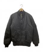 ALPHA INDUSTRIES(アルファインダストリーズ)の古着「MA-1フライトジャケット」|ブラック