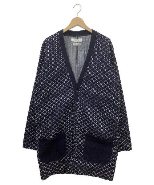 FDMTL(ファンダメンタル)FDMTL (ファンダメンタル) 刺子ノーカラーコート インディゴ サイズ:4の古着・服飾アイテム