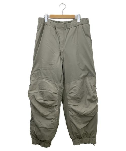 U.S ARMY(ユーエスアーミー)U.S ARMY (ユーエスアーミー) 米軍LEVEL7 プリマロフトパンツ カーキ サイズ:Mサイズの古着・服飾アイテム