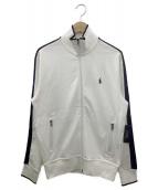 POLO RALPH LAUREN(ポロ・ラルフローレン)の古着「トラックジャケット」|ホワイト×ネイビー