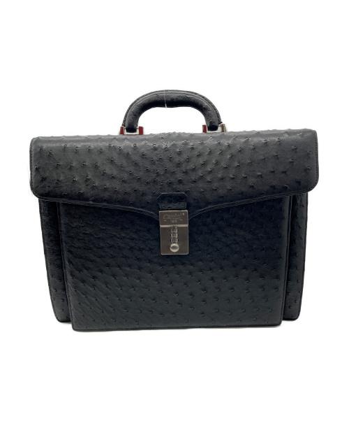 Ferrini(フェリーニ)Ferrini (フェリーニ) オーストリッチダレスバッグ ブラック サイズ:下記参照の古着・服飾アイテム