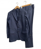 UNIVERSAL LANGUAGE(ユニバーサルランゲージ)の古着「3Bセットアップスーツ」 ネイビー