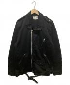 POST OALLS(ポストオーバーオールズ)の古着「ライダースジャケット」|ブラック