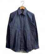 TOMORROW LAND PILGRIM(トゥモローランド ピルグリム)の古着「ツイルドレスシャツ」|インディゴ