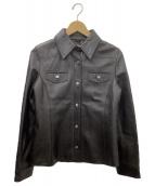 BALMAIN(バルマン)の古着「ラムレザージャケット」|ブラウン