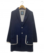 GUILD PRIME(ギルドプライム)の古着「ショールカラーパイルコート」 ネイビー