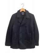 BLUE BLUE(ブルーブルー)の古着「スウェットPコート」|ネイビー