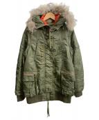 AVIREX(アヴィレックス)の古着「ミリタリージャケット」|セージグリーン