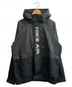 NIKE()の古着「AIRウーブンフーディジャケット」|ブラック