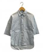 MADISON BLUE(マディソンブルー)の古着「パールボタン半袖シャツ」 ライトブルー
