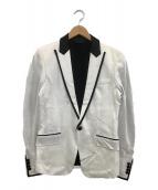 ()の古着「1Bテーラードジャケット」 ホワイト×ブラック