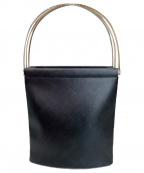 Cartier(カルティエ)の古着「ハンドバッグ」 ブラック×レッド