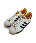adidas Originals(アディダスオリジナル)の古着「ローカットスニーカー」 ホワイト×ネイビー×イエロー