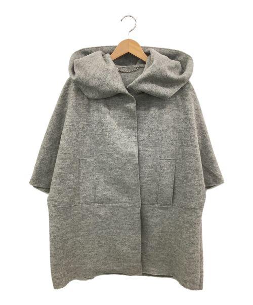 MARELLA(マレーラ)MARELLA (マレーラ) ラムウールポンチョ グレー サイズ:J42の古着・服飾アイテム
