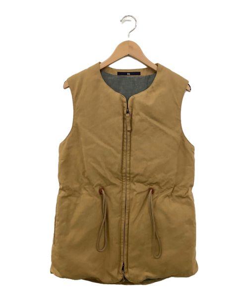 45rpm(45アールピーエム)45rpm (45アールピーエム) ダウンベスト ブラウン サイズ:1の古着・服飾アイテム