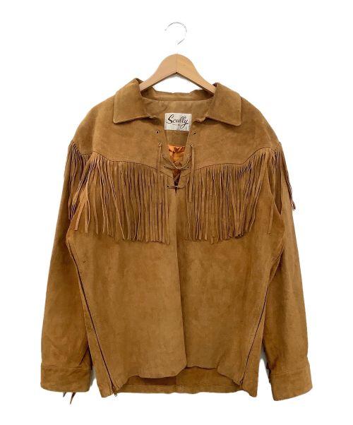 scully(スカリー)scully (スカリー) フリンジレザープルオーバー ブラウン サイズ:不明の古着・服飾アイテム