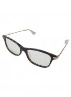 GUCCI(グッチ)の古着「眼鏡」 ブラック×ベージュ×ゴールド