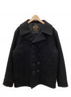 IRON HEART(アイアンハート)の古着「メルトンウールPコート」|ブラック