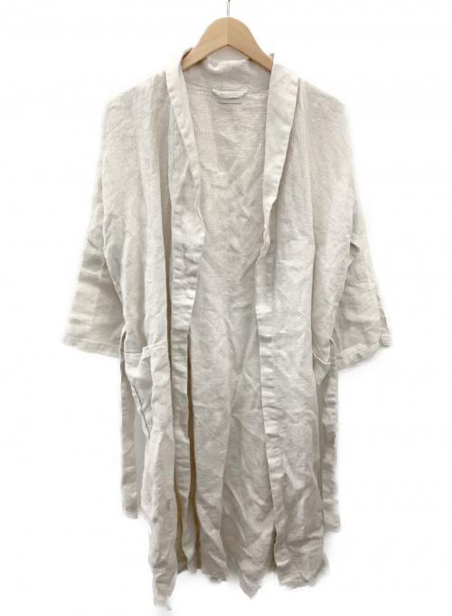 fog linen work(フォグリネンワーク)fog linen work (フォグリネンワーク) リネンワンピース ベージュ サイズ:記載無の古着・服飾アイテム