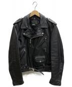SCHOTT BROS.(ショットブロス)の古着「ダブルライダースジャケット」|ブラック