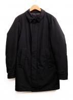 ()の古着「ステンカラーダウンコート」 ブラック