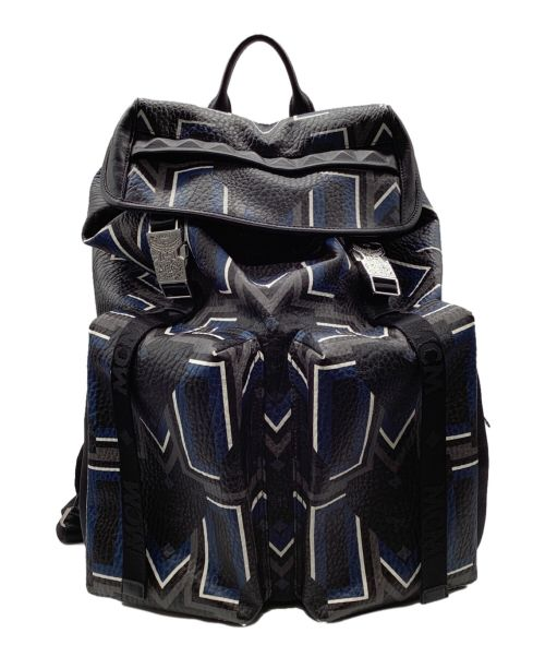 MCM(エムシーエム)MCM (エムシーエム) リュック ネイビー×ブラックの古着・服飾アイテム