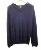 ck Calvin Klein(シーケーカルバンクライン)の古着「リネンシルク混ニット」|ネイビー