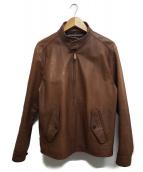 POLO RALPH LAUREN(ポロラルフローレン)の古着「カウレザージャケット」 ブラウン