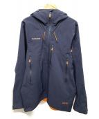 MAMMUT(マムート)の古着「フーデッドジャケット」|ネイビー×オレンジ
