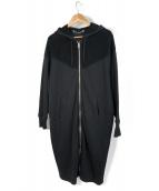 DIESEL(ディーゼル)の古着「ロングパーカー」|ブラック