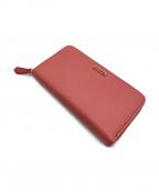 FENDI(フェンディ)の古着「ラウンドファスナー長財布」|ピンク