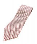 HERMES(エルメス)の古着「ネクタイ」|ピンク×ホワイト
