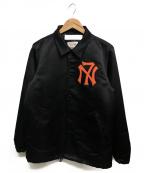 NEXUSVII(ネクサスセブン)の古着「クラシックサテンコーチジャケット」|ブラック×オレンジ